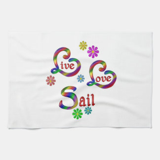 Live Love Sail Kitchen Towel
