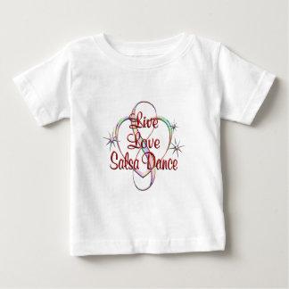 Live Love Salsa Dance Baby T-Shirt