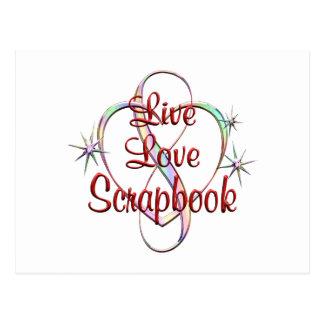 Live Love Scrapbook Postcard