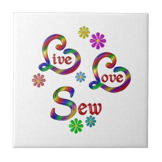 Live Love Sew Tile