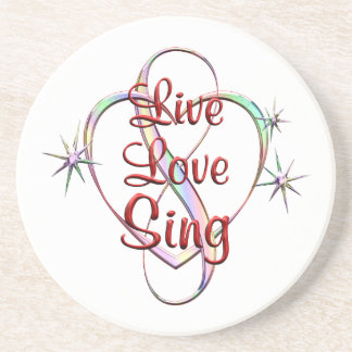 Live Love Sing Coasters