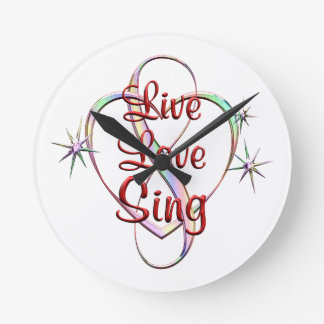 Live Love Sing Wallclock