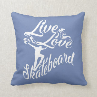 LIVE - LOVE - SKATEBOARD THROW PILLOW