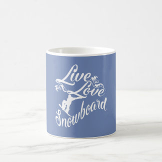 LIVE - LOVE - SNOWBOARD COFFEE MUG