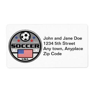 Live Love Soccer America Shipping Label