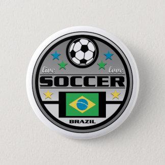 Live Love Soccer Brazil 2 Inch Round Button