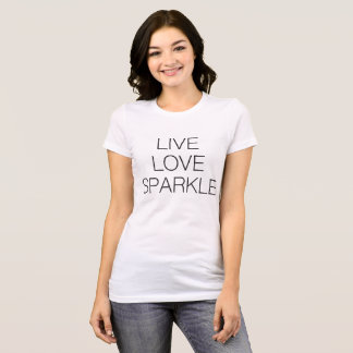 LIVE LOVE SPARKLE TEE WHITE