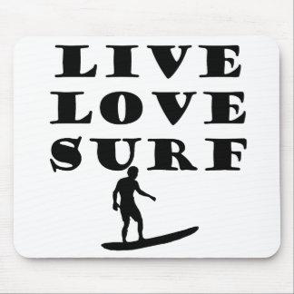 Live Love Surf Mousepad