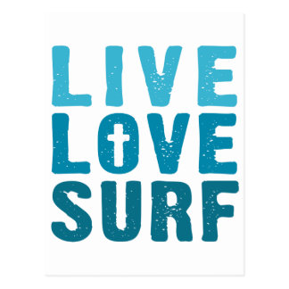 live-love-surf postcard
