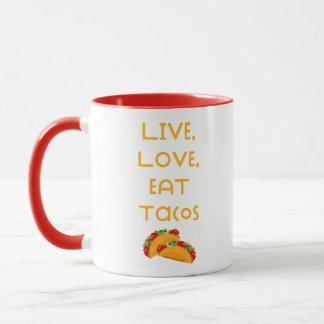 Live Love Tacos V Mug