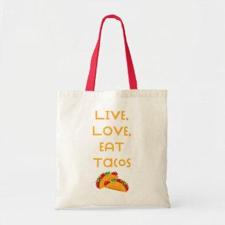 Live Love Tacos V Tote Bag