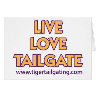 Live Love Tailgate Tiger Tailgating Cards
