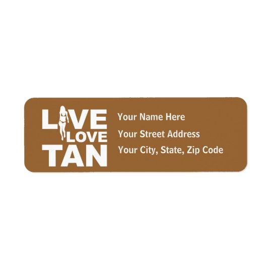 Live Love Tan Return Address Label