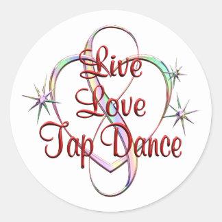 Live Love Tap Dance Round Sticker