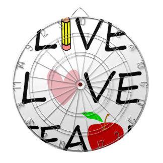 live love teach2 dartboard
