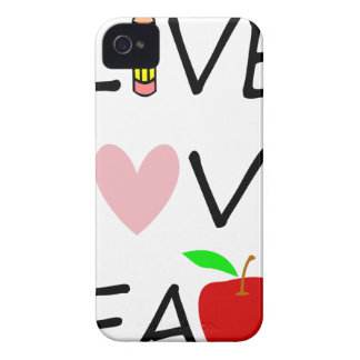 live love teach2 iPhone 4 Case-Mate cases