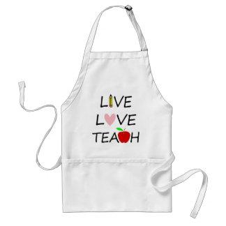 live love teach2 standard apron