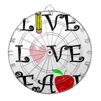 live love teach3 dartboard