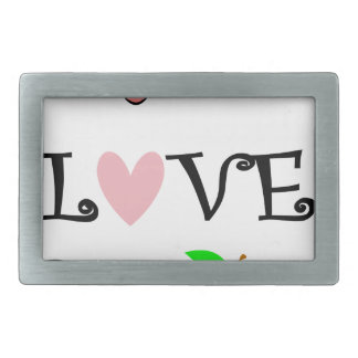 live love teach3 rectangular belt buckles