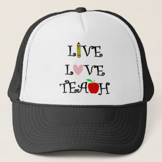live love teach3 trucker hat