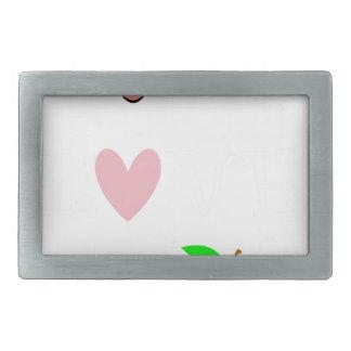 live love teach4 rectangular belt buckle