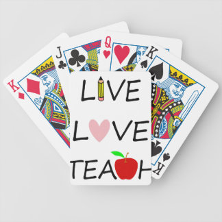 live love teach bicycle playing cards