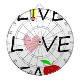 live love teach dartboard