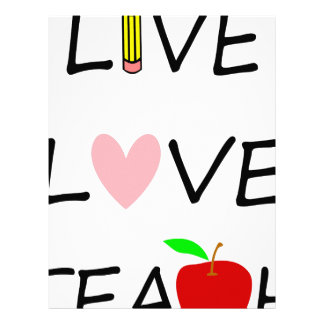 live love teach letterhead