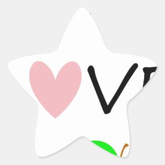 live love teach star sticker