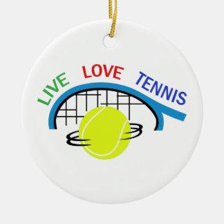 LIVE LOVE TENNIS CERAMIC ORNAMENT
