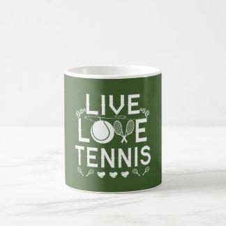 LIVE - LOVE - TENNIS COFFEE MUG