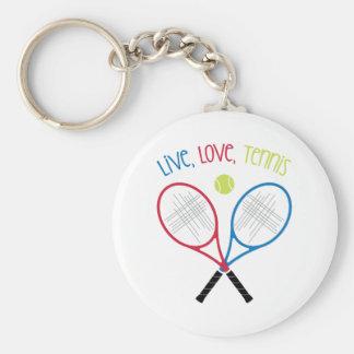 Live Love Tennis Keychain