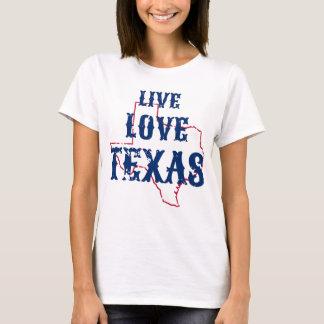 Live Love Texas ladies tshirt