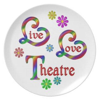 Live Love Theatre Plate