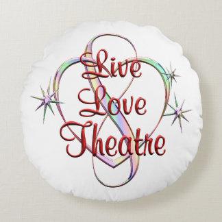 Live Love Theatre Round Pillow