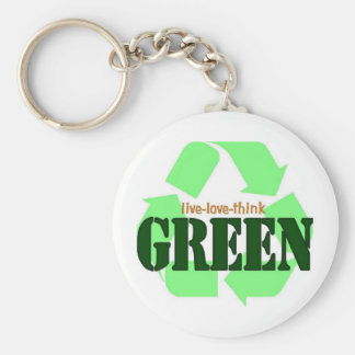 Live-Love-Think GREEN Keychain