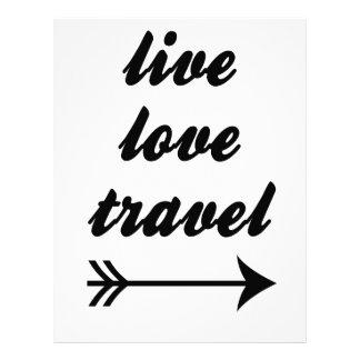 Live Love Travel Letterhead Design