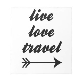 Live Love Travel Notepad