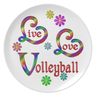 Live Love Volleyball Plate