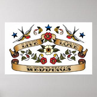 Live Love Weddings Print
