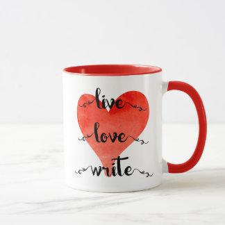 Live Love Write Mug
