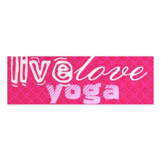 Live. Love. Yoga Mini Business Card
