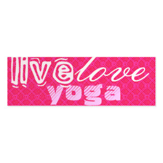 Live. Love. Yoga Pack Of Skinny Business Cards