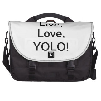 Live, love, YOLO! Bags For Laptop