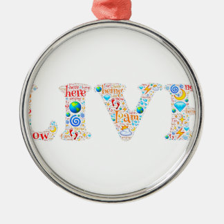 live motivational Silver-Colored round ornament