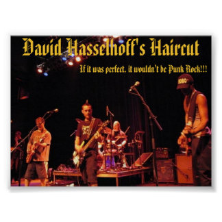 live @ norva - David Hasselhoff's Haircut Poster