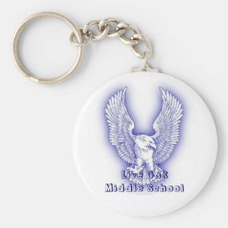 Live Oak Middle School Basic Round Button Keychain