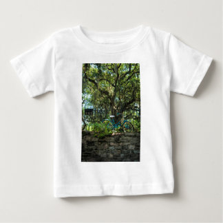 Live Oak Tree and Classic Bicycle Baby T-Shirt