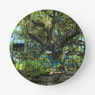 Live Oak Tree and Classic Bicycle Clock