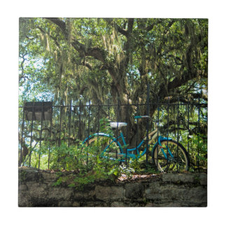 Live Oak Tree and Classic Bicycle Tiles
